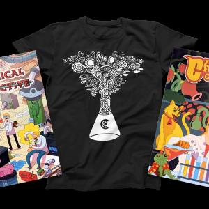 Mega Merch Bundle – T-Shirt & Two Posters